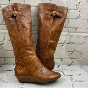 Steve Madden leather Intyce cognac boots
